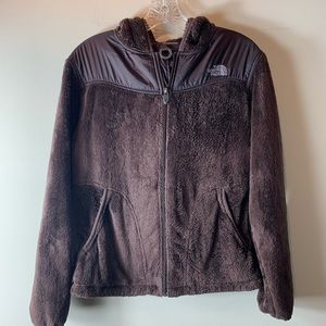 North Face Brown Hooded Furry Jacket